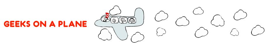 Geeks on a Plane [illustration by JESS3.com]