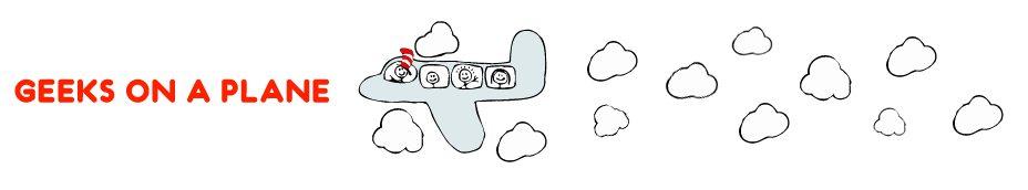 Geeks on a Plane [illustration by JESS3.com]