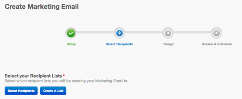 Marketing email progress