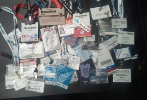 Two years of lanyards