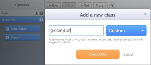 Create a Parse class
