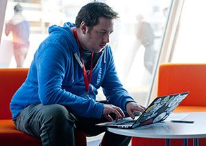 Martyn at the MIDEM Music Hack Day in Cannes (photo by Ben Baudart)