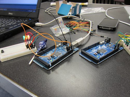 Arduinos with cables