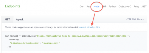 Unirest in Node.js