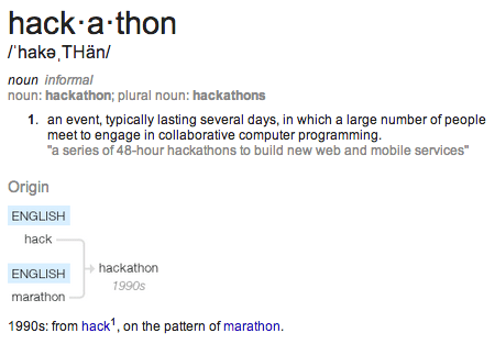 """hackathon"" defined"