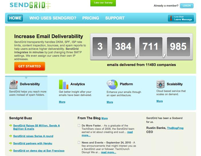 Home Page, circa 2010