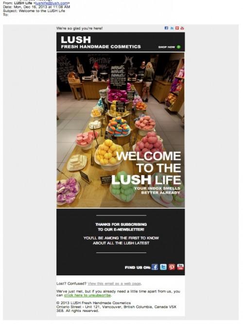 LUSH Welcome