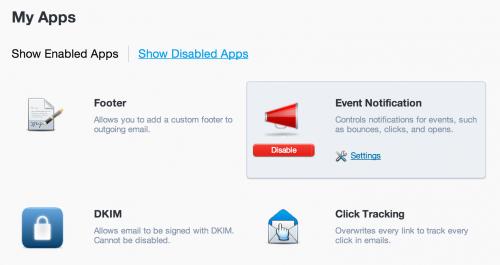 Event notification app