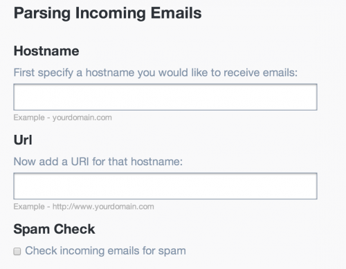 Parse Webhook settings