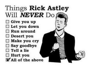 Rick Astley checklist