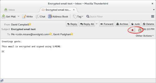 Thunderbird Read Encrypted Message
