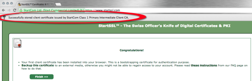 StartSSL Cert Installed