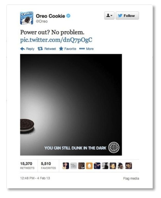 Oreo tweet example
