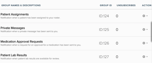 unsubscribe groups example