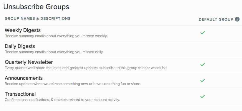 unsubscribe groups