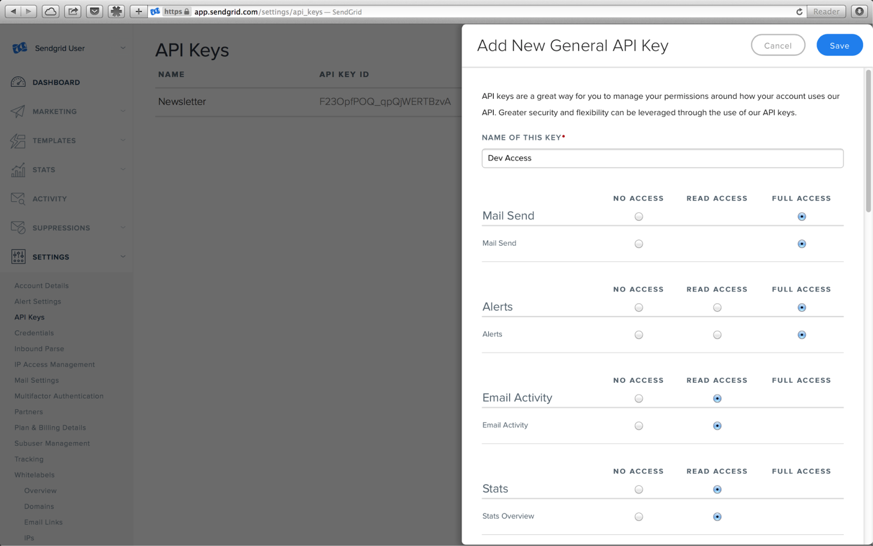 API Keys example 1
